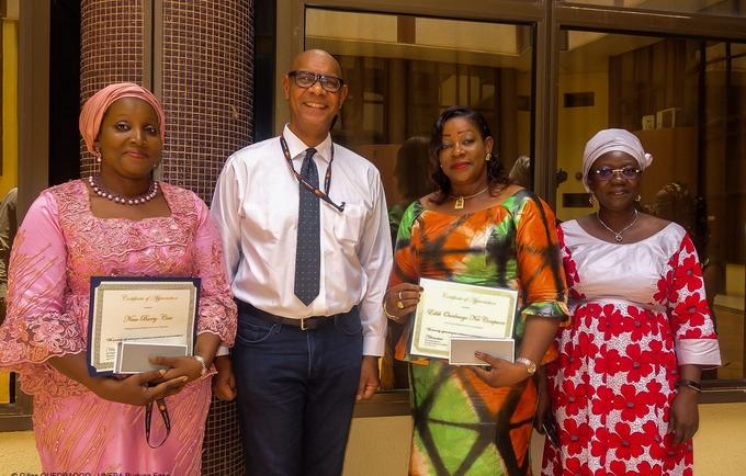 Des fonctionnaires du bureau pays de l'UNFPA au Burkina distingués pour leur engagement
